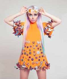 """missanthropicprinciple: """" and """" Singer Kerli wearing Ludovika Koch haute couture, 2013 thanks Quirky Fashion, High Fashion, Fifties Fashion, Pop Fashion, Timeless Fashion, Fashion Design, Steam Punk, Rock And Roll, Festivals"""