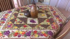 Made by Sue, harvest fruit table cover