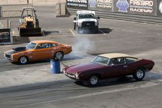"""Two Universal Technical Institute bring out their classics to the """"Day At The Races"""" Event at Firebird International Raceway in Phoenix. http://www.uti.edu/campus-locations/uti-phoenix"""