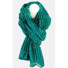 Emerald Green Viscose Scarf