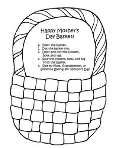 may day basket coloring pages