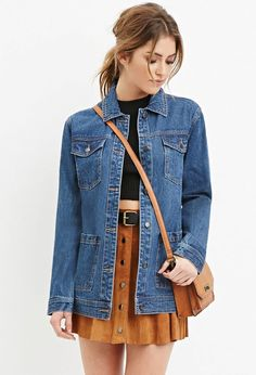 716e1aa7adfd A Denim Jacket The best way to keep your look casual yet trendy is to throw  on a casual denim jacket. You can team them up with almost everything for  every ...