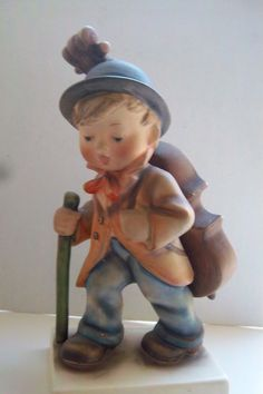 """EXTRA LARGE GOEBEL BOY CARRYING A CELLO ON HIS BACK#89/2 19.5cm/7.5/8""""HIGH 