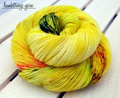 Sadie Sock HT 100g, Hand dyed yarn, Superwash merino wool, Single ply, 400 yds: Atomic. by Lambstrings on Etsy