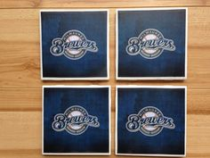 #HEPteam Milwaukee Brewers Ceramic Drink Coaster by DanielleCherieDesign, $16.00