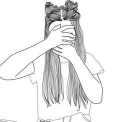 girl drawing black and white Tumblr Girl Drawing, Tumblr Drawings, Girly Drawings, Tumblr Art, Tumblr Girls, Cute Drawings Of Girls, Black And White Girl, Black And White Drawing, Girl Outlines