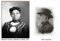 John Castner former slave Mattie Bell Bost in 1879, and together they founded the town that became Belt, Montana.    Picture is NOT Mattie Bell Castner, the pics is of an unidentified woman in Helena or Billings, MT in 1889. Because there are no pics of Mattie and I wanted to give her a face.  Source: Ken Robinson, http://fortbenton.blogspot.com/2005/07/on-being-black-american-in-territorial_31.html Photo: Montana Historical Society