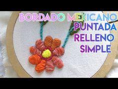 CURSO BORDADO MEXICANO   PUNTADA RELLENO SIMPLE #3