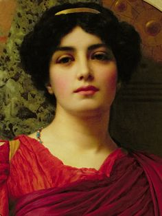 Contemplation I Artwork By John William Godward Hand-painted And Art Prints On Canvas For Sale,you Can Custom The Size And Frame John William Godward, Women In History, Ancient History, Great Women, Amazing Women, Beautiful Women, Female Poets, John Everett Millais, Writers And Poets