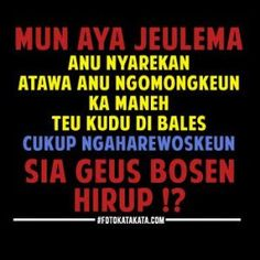 Kata Kata Lucu Bahasa Sunda Gokil