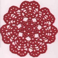 Duge og flakoner Crochet Doily Patterns, Crochet Chart, Thread Crochet, Crochet Doilies, Crochet Flowers, Crochet Rugs, Yarn Organization, Holiday Crochet, Crochet Kitchen