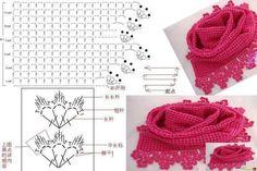 Die 763 Besten Bilder Von Crochet Tücher Schal Und Co Crochet