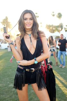 fringe bodysuit festival fashion for coachella. wish i had the body for this