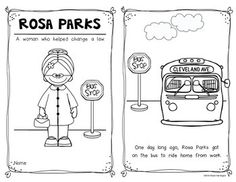 Rosa Parks Black History Month Activities | Black history month ...