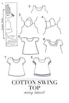 Sewing // DIY Fashion // White Swing Tee // Tee with Trim// Cotton// Project detail By: Merrick White on Joann.com