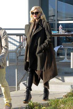 celebrity winter street style: Gwen Stefani