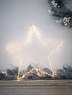 Simple and versatile, our festive, star shaped wire light will complement any Christmas look and can be displayed indoors or out.