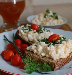 Nátierka s cottage cheese (fotorecept) - recept Cottage Cheese, Mashed Potatoes, Ale, Grains, Appetizers, Meat, Chicken, Ethnic Recipes, Food