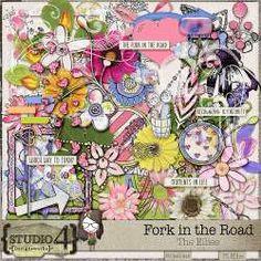 Fork in the Road - Ellies by Designworks Fork In The Road, Pink Themes, Elements Of Art, Site Design, Digital Scrapbooking, Digital Art, Studio, Website Designs, Studios