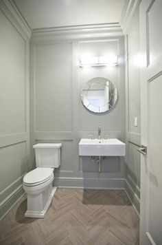 Floor and walls for powder room