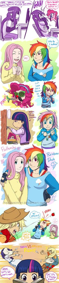 Oh a colored comic, that's a first, and with ponies too. XD Not long ago I sketched a design for Twilight Sparkle and Pinkie Pie's daughter (yes I also did for my other favorite couple, dearu with ...