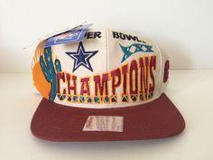 VTG Superbowl XXX 30 1996 Hat Dallas Cowboys Pittsburgh Steelers Snapback RARE!