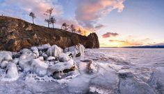 Olkhon Island, Russia   Anton Rostovsky. Sunset near Olkhon Island (Lake Baikal, Russia). 2015 ...