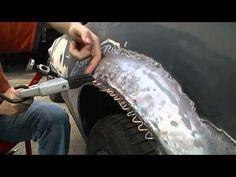 DF-505 spot weld dent puller - Part 5 Repair of Iroc quarter panel old f...