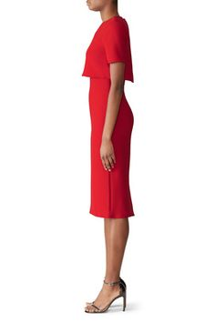 Red Popover Sheath by Jason Wu Collection Pastel Color Dress, Rent The Runway, Jason Wu, Sheath Dress, Hemline, Cold Shoulder Dress, Short Sleeve Dresses, Collections, Clothing