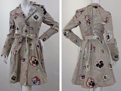 Floral Print ELEVENSES Anthropologie Pansy Corset Trench Coat Jacket sz 4 (S)Our price: $135.00http://2tymingthreads.com/index.php?l=531542