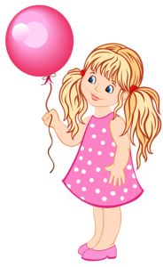 Girl holding pink balloon
