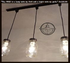 Mason Jar Track Lighting Pendant Single New Quart