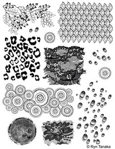 Textures - Unmounted stamps Designs by Ryn