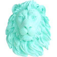 Lion Head Faux Taxidermy Wall Décor