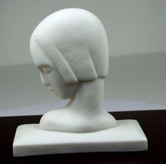 VINTAGE CAPTAVATING ART DECO BISQUE ''LADY IN PROFILE'' LENOX