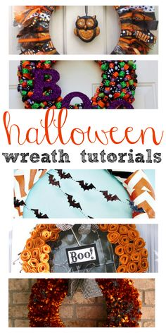 DIY Homemade Halloween Wreaths and Tutorials! Cute and FUN decorations!