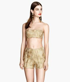 H&M Bustier with Metal Embroidery $34.95