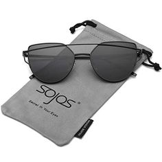 cf8d070708 Find best price for SOJOS Cat Eye Mirrored Flat Lenses Street Fashion Metal  Frame Women Sunglasses