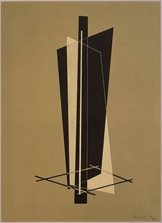 L& Moholy-Nagy, Untitled from Konstruktionen. Tristan Tzara, Laszlo Moholy Nagy, Bauhaus Art, Wassily Kandinsky, Op Art, Art And Architecture, Geometric Shapes, Design Art, Graphic Design