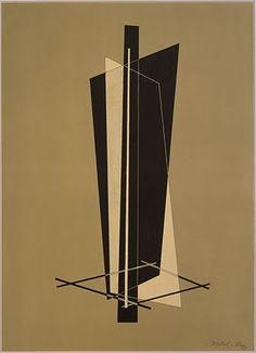 Laszlo Moholy-Nagy 긴면들이 이루는 덩어라와 선들의 대비와 조화가 마음에 들어 선정하게 되었습니다. 판보드와 쇠를 이용하려 3차원으로 구성하면 여러 뷰에서 흥미로울 것 같습니다.