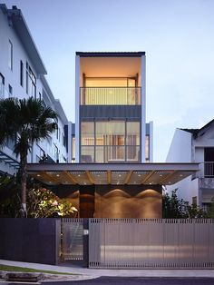 Modern three-storey single family residence in Jalan Angin Laut, Singapore designed in 2012 by HYLA Architects located in Singapore.
