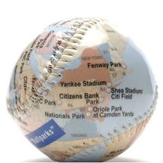 Something for the Shelf    In the event that you do not visit every stadium in America.    Ballparks baseball ($22.50) by Blue Ribbon General Store, blueribbongeneralstore.com
