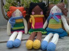 JUD artes: Bonequinhas de croche!!!