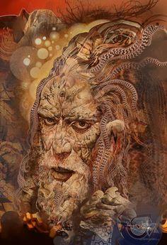 Moses by Android Jones Fairy Wallpaper, Wallpaper Space, Fantastic Art, Amazing, Android Jones, Art Bin, Art Optical, Optical Illusions, Esoteric Art