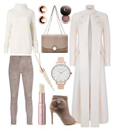 """Winter Neutrals"" by stephanie-mcclaran on Polyvore featuring Marc Jacobs, Temperley London, Arma, Diane Von Furstenberg, Olivia Burton, Argento Vivo, Too Faced Cosmetics and Chantecaille"