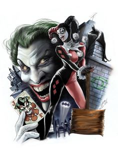 .      Harley & JokerbyCris de Lara    via:timetravelandrocketpoweredapes