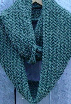 Knitting Pattern for Quick Embraceable Cowl Infinite Scarf - Versatile cowl features a herringbone stitch pattern and is a quick knit in super bulky or bulky yarn (pictured). Can be worn as cowl, neckwarmer, or scarf. #ad See more pics and get pattern on Etsy http://www.awin1.com/cread.php?awinaffid=234273&awinmid=6220&p=https%3A%2F%2Fwww.etsy.com%2Flisting%2F62607572%2Fknitting-pattern-cowl-scarf-chunky tba Pictured project by jostrong