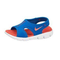 Sandalia chancla niño Nike Sunray 9 BT azul y naranja