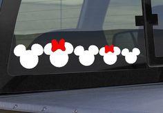 Disney Mickey / Minnie Mouse 5 Piece Family Vinyl Car Sticker Set on Etsy, $12.50
