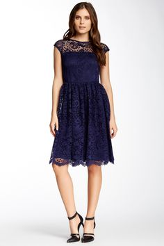 Thoughts Rachel? Illusion Yoke Lace Flare Dress by Maggy London on @nordstrom_rack